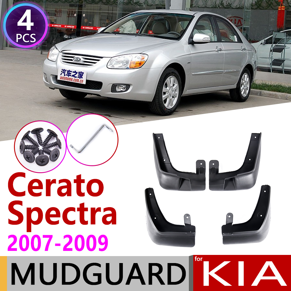 4 PCS Front Rear for KIA Cerato Spectra LD 2007 2008 2009 Car Mudflaps Fender Mud Flaps Guard Splash Flap Mudguards Accessories-in Car Stickers from Automobiles & Motorcycles
