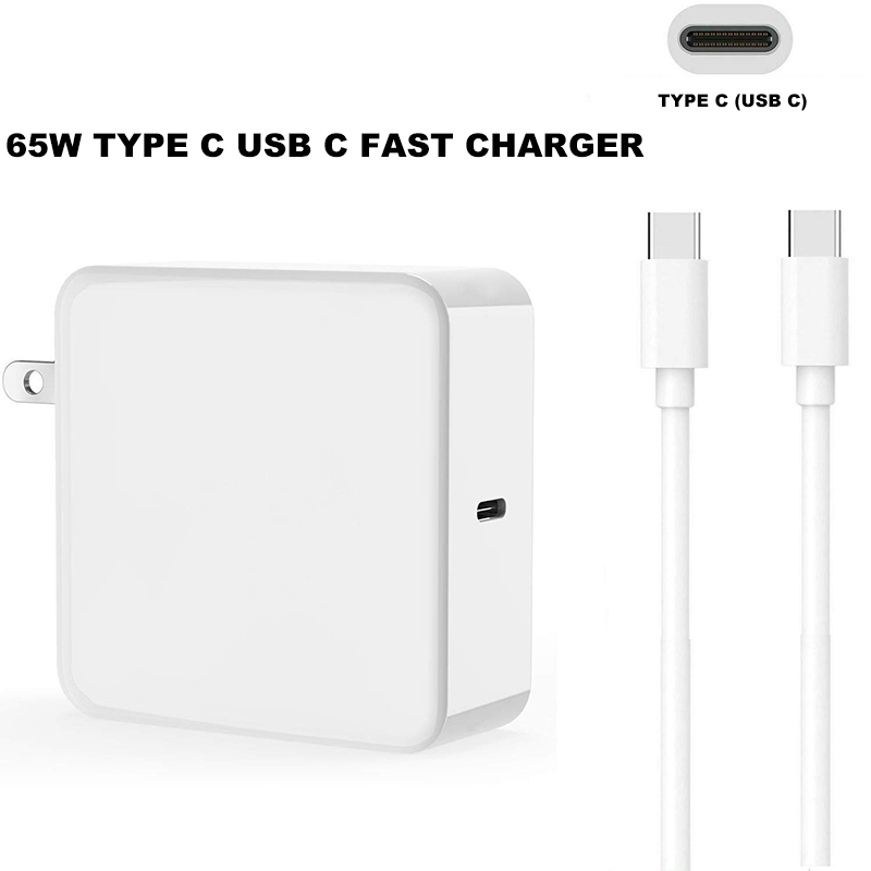 65W TYPE USB C Power Adapter Charger Type C Wall Adapter Power Fast Charge for font