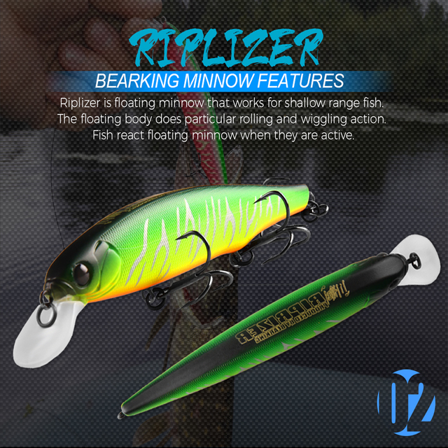 BEARKING Best price Riprizer 110 jerking bait 11cm 15g dive 1.5m Wobblers Carp Fishing Lures Artificial Baits tackles