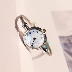 Image 2 - Luxury Women Watch Bracelet Simple Fashion Female Clock Simple Quartz Wrist Watch Women relogio feminino reloj mujer 2019