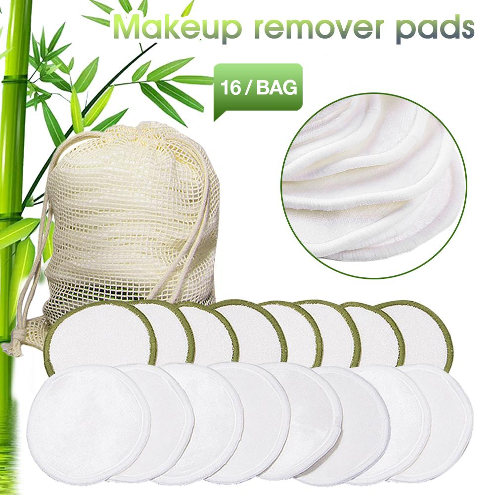 1/16pcs/set Reusable Organic Cotton Pads Makeup Remover Washable Cleansing Microfiber Makeup Remover Beauty Tools Cleansing Cott