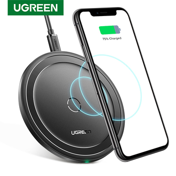 Ugreen Wireless Charger for iPhone 12 X Xs Xr 8 10W Qi Fast Wireless Charging Pad for Samsung S10 S9 Note 9 Xiaomi Charger