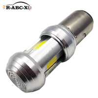 RUIANDSION-bombilla LED para faro trasero de coche, amarilla de luz blanca y 1200Lm, 12V-80V, 24V y 48V, COB H4 P43T 9003 HB2 HS1 BA20D H6