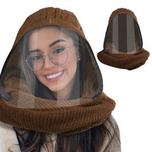 Winter 2020 new protective isolation transparent scarf cap, warm and thickened ear protector, one-piece caps for men and women