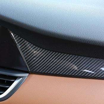 Real Carbon Fiber Auto Passagier Dekoration Panel Abdeckung Trim Für Alfa Romeo Giulia 2017-2019 Auto Zubehör