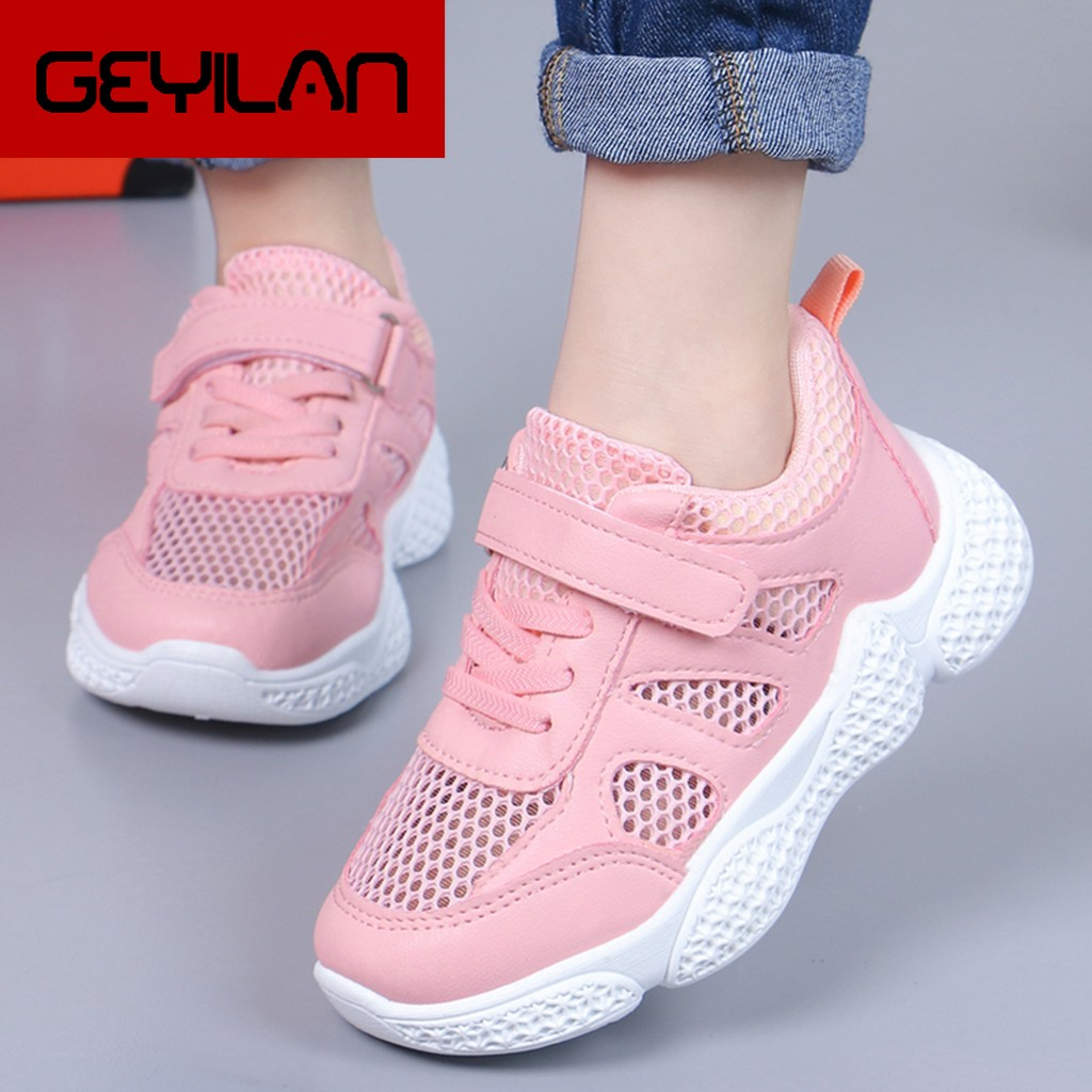 Kids Sneakers New Spring Children Sports Shoes Unisex Boys Girls Sneakers Mesh Breathable Fashion Casual Kids Shoes Size 26-37