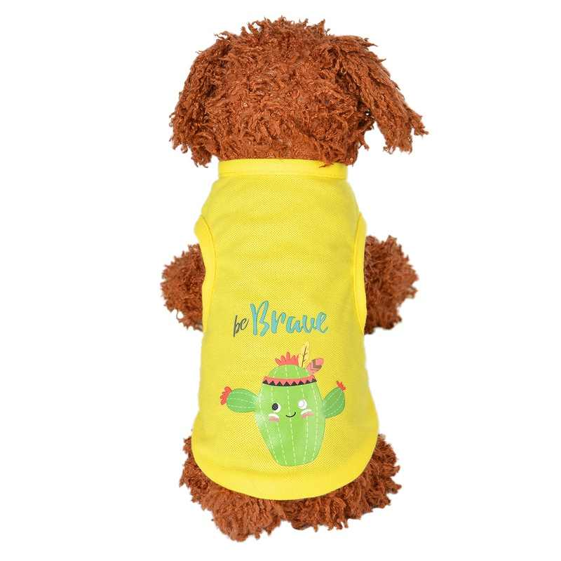 dog clothes for small dog summer dog t shirt vest Animal Printed Pet Puppy Summer Shirt Cat Pet Clothes Vest T Shirt