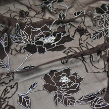 Шелк выгорает опал шелковой ткани с цветком в простой коричневый для женщин вечернее платье костюм