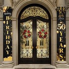 Porta de aniversário cortina 50th decorações da festa de aniversário fontes da festa de aniversário adulto 30 40 50 60 70 80 anos festa de aniversário