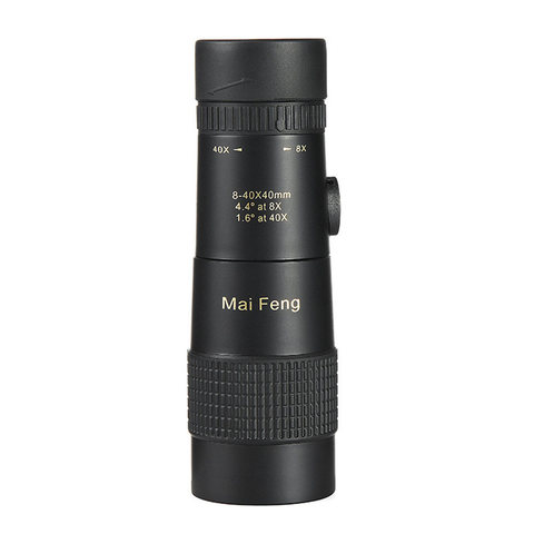 Portátil para a Caça de Acampamento Poderoso Alta Qualidade Monocular Zoom Lll Night Vision Binóculos Telescópio Profissional hd 8-40×40