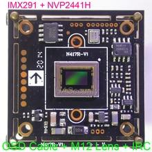 "AHD H (1080P) / CVBS(D1) 1/2.8 ""Sony STARVIS IMX291 CMOS + NVP2441 CCTV kamera PCB board modul + OSD kabel + M12 Objektiv + IRC (UTC)"