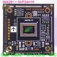 "AHD H (1080P) / CVBS(D1) 1/2.8 ""Sony STARVIS IMX291 CMOS + NVP2441 PCB para cámara CCTV Módulo de placa + cable OSD + lente M12 + IRC (UTC)"