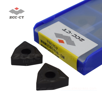 10pcs zcc carbide WNMG080408 -DM YBC252 WNMG 080408 DM ZCC turning tool external internal cutting tools cutter wnmg080408-dm