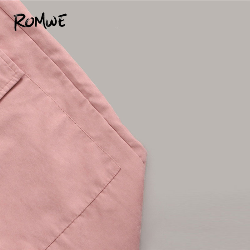 Image 4 - Romwe Sporty Letter Print Knot Front Tee and Cargo Pants 2 Piece Set Women Jogging Activewear Casual White Tee Matching Set-in Running Sets from Sports & Entertainment on AliExpress