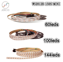 JERCIO WS2812B-MINI like SK6812 IC 144 leds/pixel/m;dream individual addressable led strip IP30 DC5V Can be customized your
