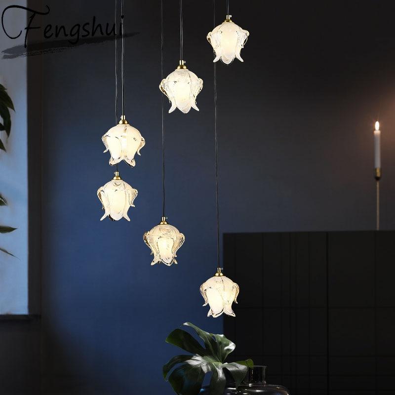 Postmodern Crystal Pendant Lights Lighting Art Pendant Lamp Dining Living Room Bedroom Loft Home Decor Hanging Light Fixture