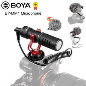 Image 1 - BOYA BY MM1 مكثف فيديو ميكرفون تسجيل على كاميرا تسجيل الدخول آيفون سامسونج كانون DSLR Zhiyun السلس 4 استقرار
