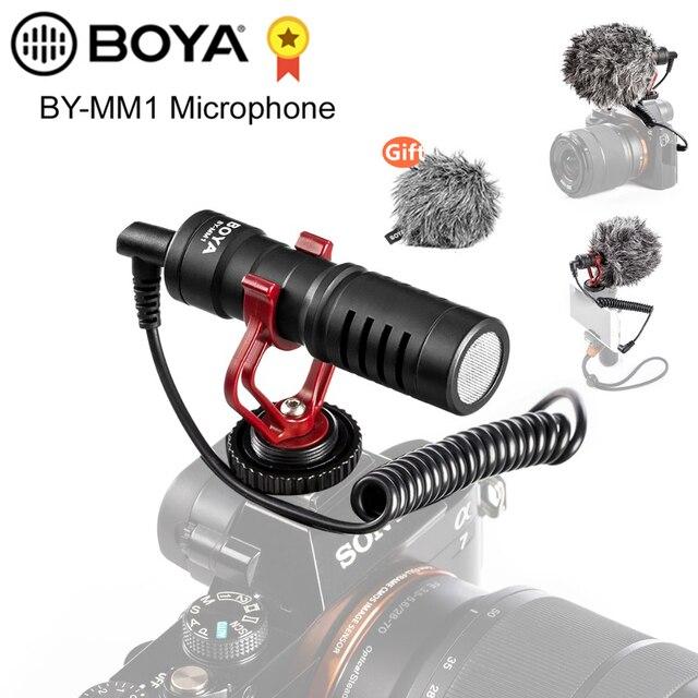 BOYA BY MM1 مكثف فيديو ميكرفون تسجيل على كاميرا تسجيل الدخول آيفون سامسونج كانون DSLR Zhiyun السلس 4 استقرار