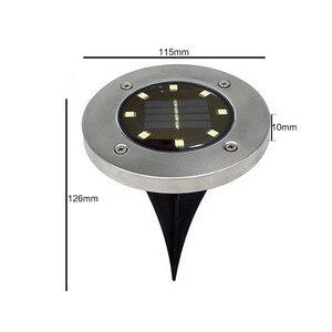 Image 5 - Thrisdar 10 قطعة تعمل بالطاقة الشمسية ضوء أرضي 8 LED في الهواء الطلق حديقة المشهد مسار الطاقة الشمسية دفن الطابق ضوء تحت الأرض مصابيح