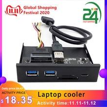 33S50 RTK 3 in 1 lettore di Schede USB 3.0 Sul Pannello Frontale Tipo di Supporto C Dual USB 3.0 Port Hub Cruscotto PC del Pannello Frontale con Cavo di Alimentazione
