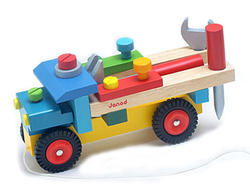 Free shipping Baby Wood Tool disassembling combination nut car toy Children began educational kids wooden classic tool block toy