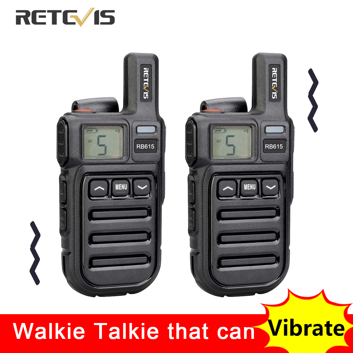 Retevis RB615 PMR Mini Walkie Talkie PMR 446 PTT FRS Walkie-Talkies 1 or 2 pcs Portable Two Way Radio for Restaurant Hunting FRS