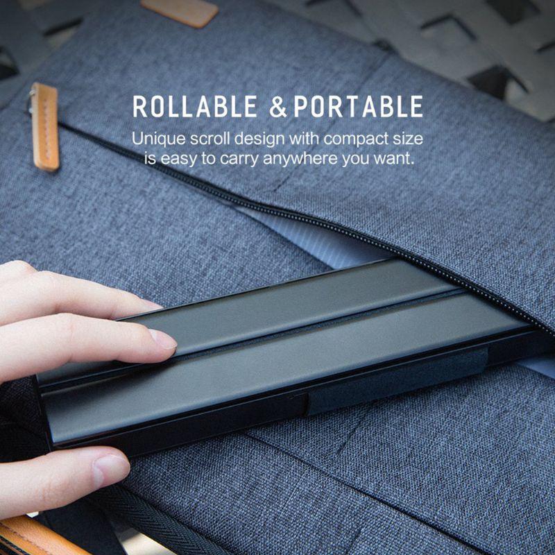 R4 portátil rollable teclado sem fio bluetooth para ios android dispositivo windows vermelho