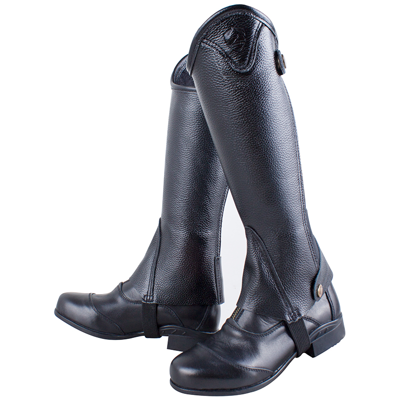kid's half-chaps  Leather half chaps for children, Little knight equestrian equipment Protect your legs while riding