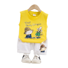 New Summer Baby Girls Clothes Children Boys Cotton Cartoon Vest Shorts 2Pcs/sets Toddler Fashion Clothing Infant Kids Tracksuit