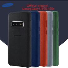 Samsung S10 Case oficjalna oryginalna prawdziwa skóra zamszowa etui samsung s10 plus telefon ochraniacz na drążek skrzyni biegów dla Galaxy S10e S10 + okładka