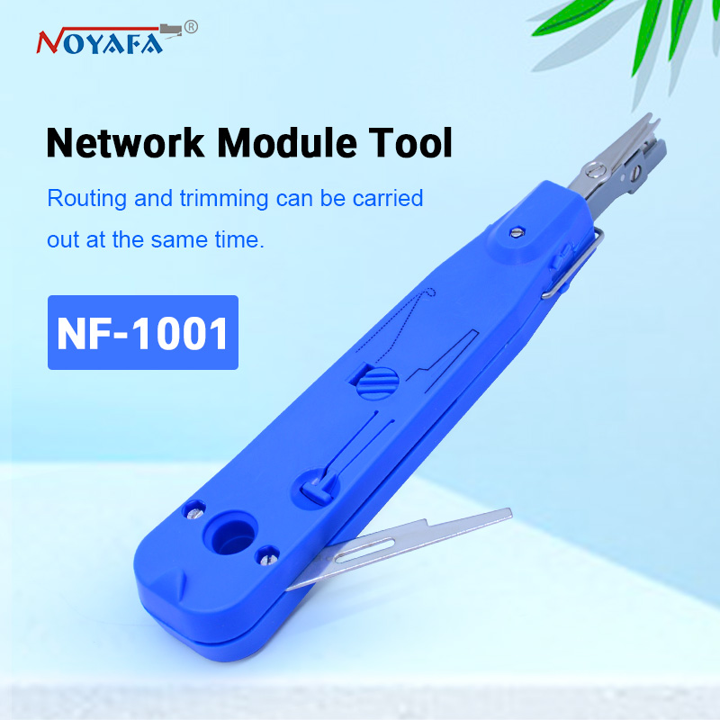 NOYAFA nf-1001 Blue Krone Lsa-plus Telecom Phone Wire Cable RJ11 RJ45 Punch Down Network Tool Kit Professional