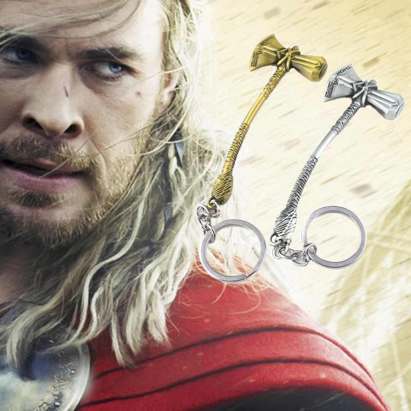 New Avengers 3 Infinity Guerra Thor Ascia Martello Keychain di Alta Qualità Thor Stormbreaker Ventole Della Catena Chiave per Le Donne Degli Uomini Dei Monili