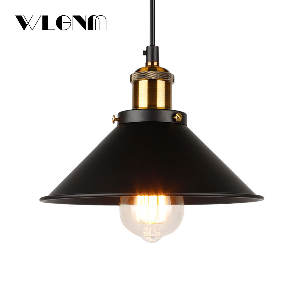 Image 2 - Industrial Pendant Lights Vintage pendant Lamp Hanging lamp modern pendant ceiling lamps LED restaurant Living room decorationPendant Lights   -