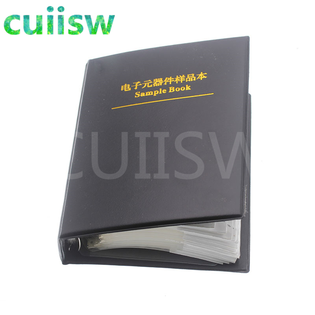 0402 SMD Capacitor Sample Book 80valuesX50pcs=4000pcs 0.5PF~1UF Capacitor Assortment Kit Pack 2