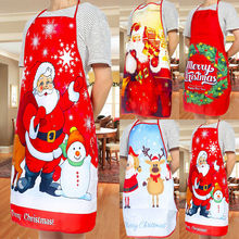Christmas Aprons Baking Dinner Women Home Santa-Claus Adult And Red Cleaning 1pcs Party-Decor