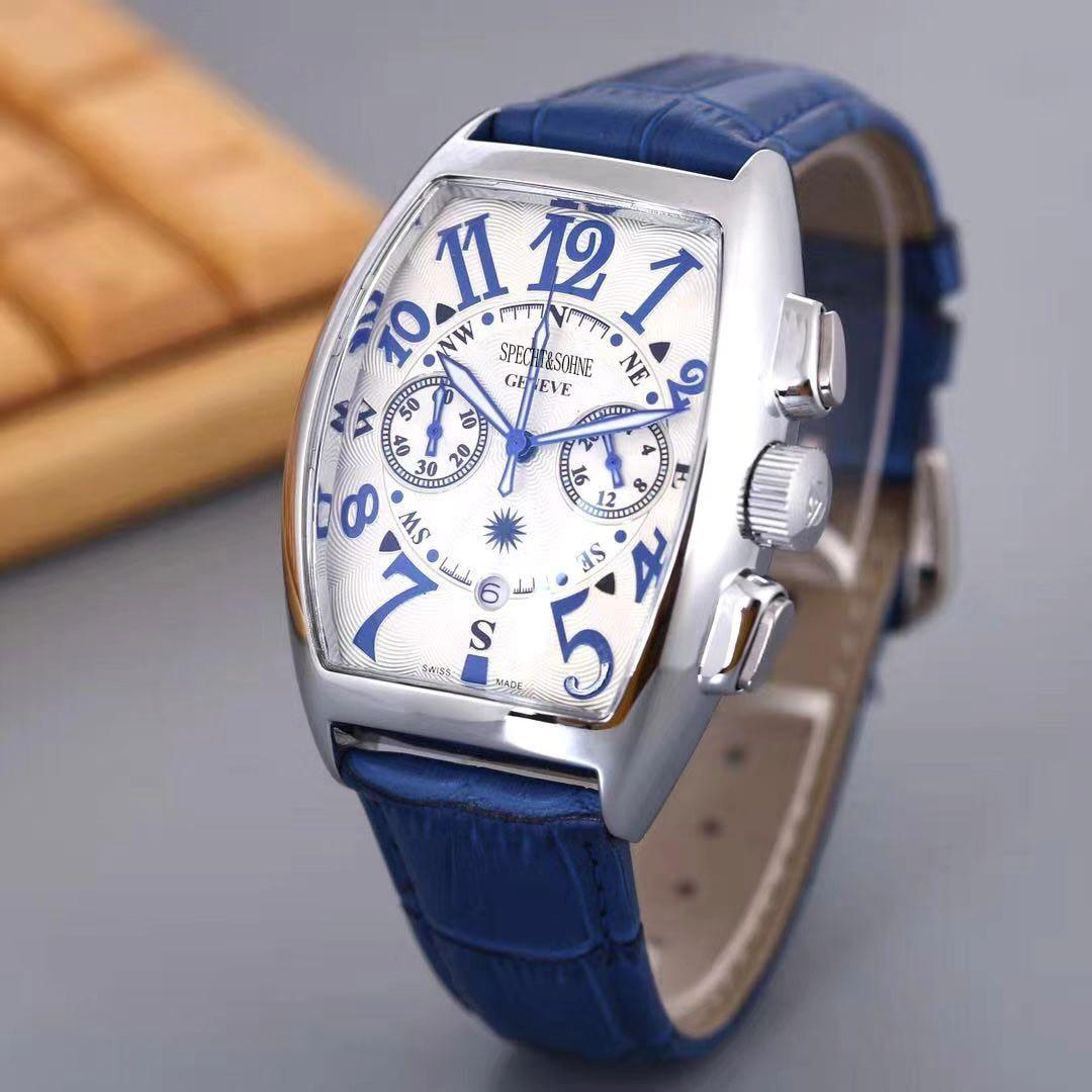2021 nuevo reloj de pulsera con AAA relojes de hombres superior de la marca de lujo de TACTO cronógrafo reloj de cuarzo correa de cuero militar del ejército reloj impermeable