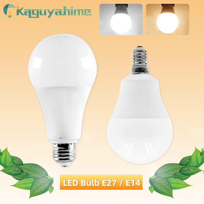 Kaguyahime LED E27 LED Bulb E14 LED Light 20W 15W 12W 9W 6W 3W AC 220V 240V LED Spotlight Bombilla Table Lamp Lighting Lampada