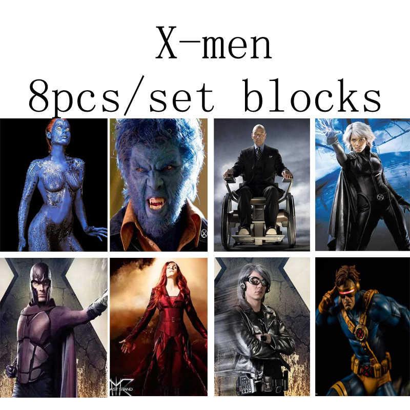 8 pièces x-men magnéto professeur X Mystique Quicksilver Phoenix blocs de construction jouets pour les enfants