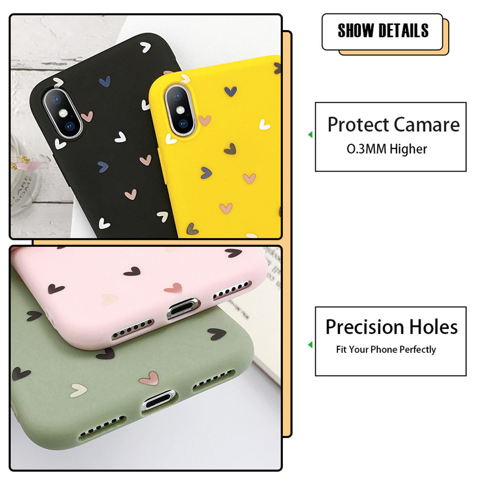 H08e64b0e3022418e8ccc817e44784770f - Lovebay Silicone Love Heart Phone Case For iPhone 11 Pro X XR XS Max 7 8 6 6s Plus 5 5s SE Candy Color Shell Soft TPU Back Cover