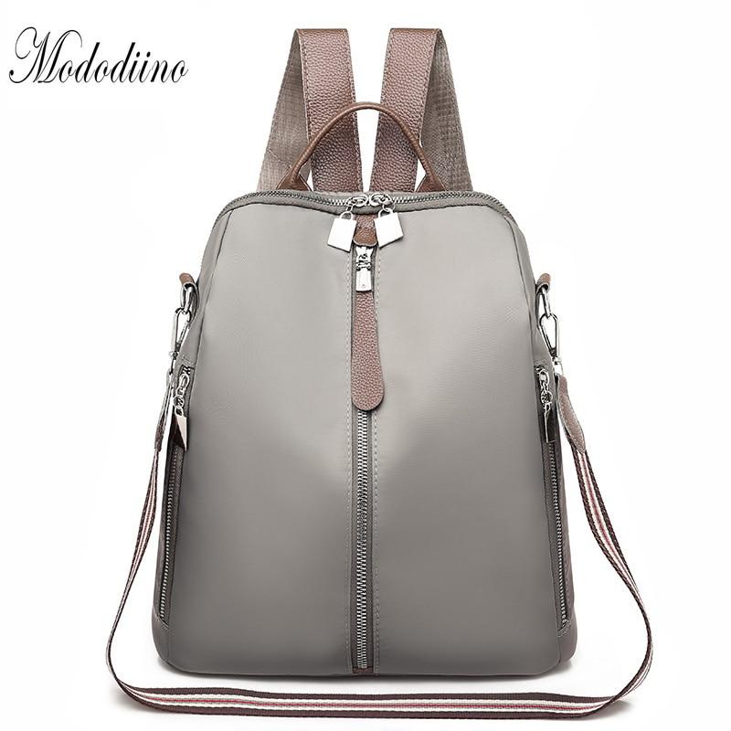 Mododiino Women Backpack Oxford Shoulder Bag Waterproof Travel Mochila Feminina Schoolbag For Girls DNV1174