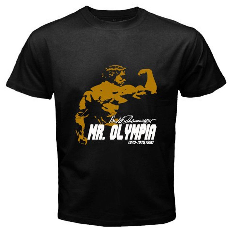 Arnold Schwarzenegger Mr. Olympia Body Building Champ Black T-Shirt Size S-5xl Tee Shirt Tops New Arrival Tee image