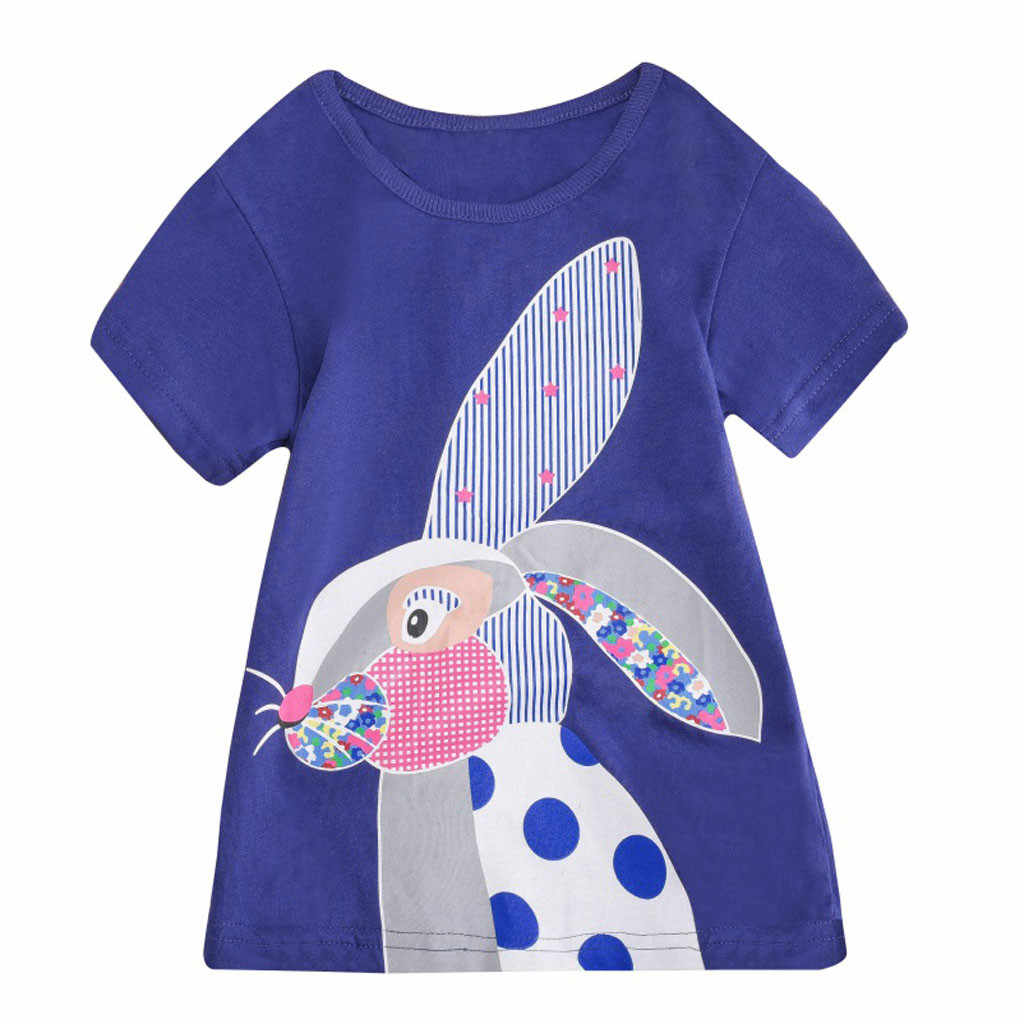 Kids Baby Jongens Meisjes Cartoon Tops T-shirt Blouse Kids Kleding Korte Mouw Ropa De Bebe Nina T-shirt Tops # LR1