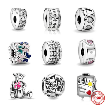 2020 New Band Of Hearts Beads Beaded Butterflies Clip Tigger Diy Bead Fit Original Pandora Charms Silver 925 Bracelet Jewelry
