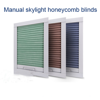 Free Shipping  Skylight Honeycomb Shades Using Handle For Skylight Window Blinds