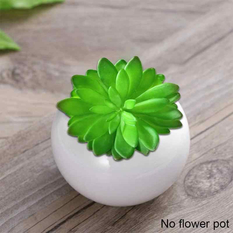 Mini Cute Succulent Home Garden Decoration Artificial Bonsai Plant With Vase For Home Office Desktable Decor Indoor Fake Plants Aliexpress