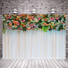 Photo Studio 150x100/220x150cmcm 2sides Flower sea background birthday party holiday party photo photography curtain(China)