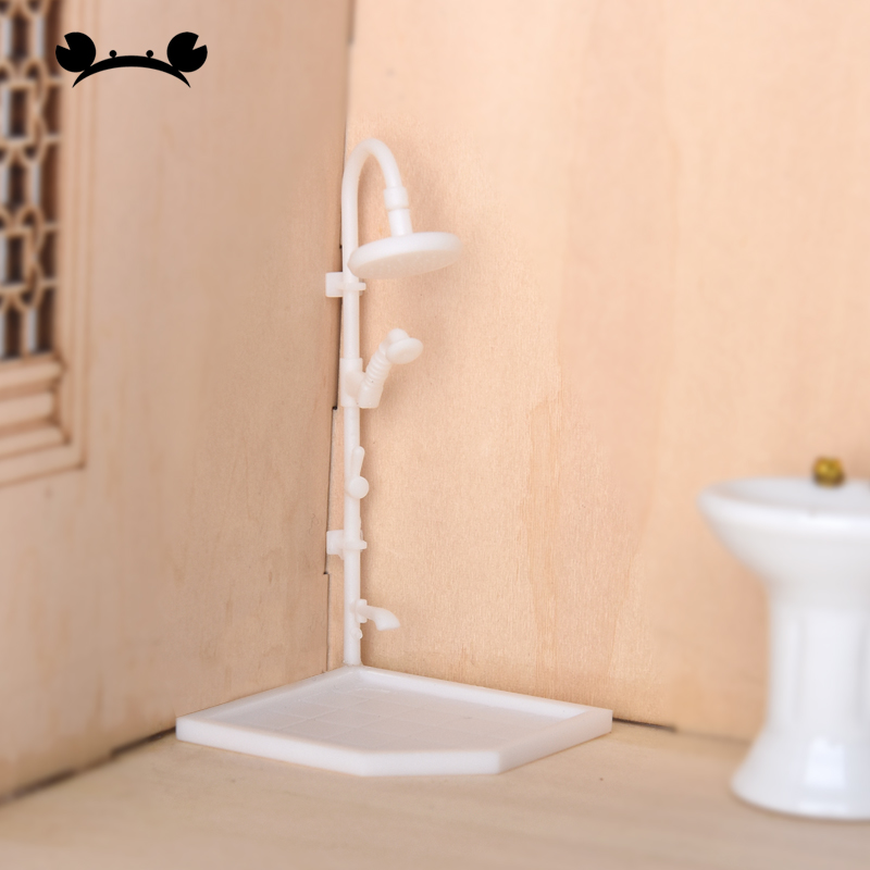 3pcs 1/20 1/25 1/30 Scale Shower Bathroom Model Interior Decoration Ornaments Building Model Dollhouse Material Accessories