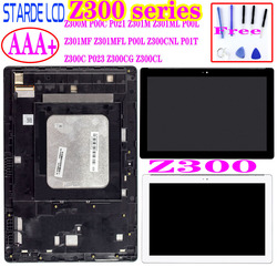 for Asus Zenpad 10 Z300 Z300M P00C Z300CNL P01T Z301ML Z301MFL P00L Z300C P023 LCD Display Touch Screen Digitizer Assembly Frame