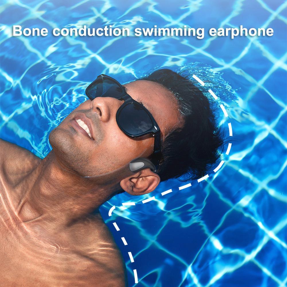 Bone Conduction Bluetooth 5.0 Headset Stereo Level 8 Waterproof Sports Swimming Running Wireless Headphone Mic Handsfree Headset on AliExpress 26