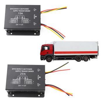 سيارة امدادات الطاقة تنحى محول 24 فولت إلى 12 فولت محول 10A 15A 20A 30A الناتج مع ذاكرة الطاقة عالية إلى منخفضة العاكس